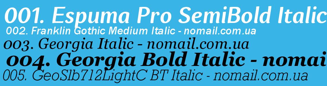 Шрифт Italic - AFonts